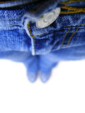 Blue jeans, shallow dof Stock Photo