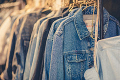 Blue jeans shirt ,vintage Royalty Free Stock Image