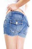 Blue jeans short Royalty Free Stock Photos