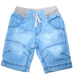 Blue jeans shorts Stock Image