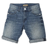 Blue jeans shorts Stock Photo
