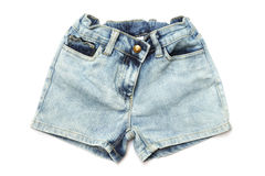 Blue jeans shorts for kids Stock Photography