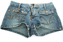 Blue jeans shorts Royalty Free Stock Photo