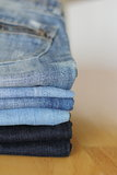 Blue jeans Stock Images