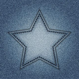 Blue jeans star Royalty Free Stock Images