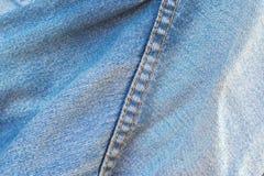 Blue jeans stitch Stock Image