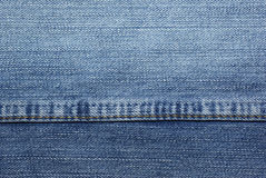 Blue jeans with stitches Stock Image