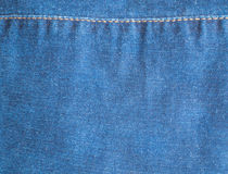 Blue Jeans and Stitches Texture Stock Photos