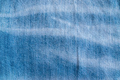 Blue Jeans and Stitches Texture Stock Photo