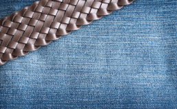 Blue Jeans and Stitches Texture Royalty Free Stock Photo