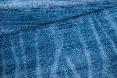 Blue Jeans and Stitches Texture Stock Photography