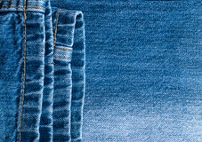 Blue Jeans and Stitches Texture Stock Images