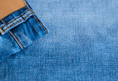 Blue Jeans and Stitches Texture Royalty Free Stock Images