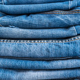 Blue Jeans and Stitches Texture. Denim Background with Seam Royalty Free Stock Photo