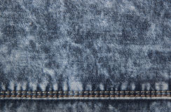 Blue jeans with stitches Stock Images