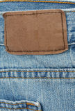 Blue Jeans Tag Royalty Free Stock Photos