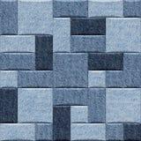 Blue Jeans tapezieren dekorative Wand - nahtlose Hintergrundbeschaffenheit lizenzfreie abbildung