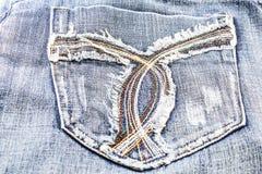 Blue Jeans-Tasche. Stockbilder