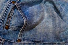Blue Jeans-Tasche Stockbilder