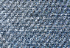 Blue jeans textile surface. Royalty Free Stock Photography