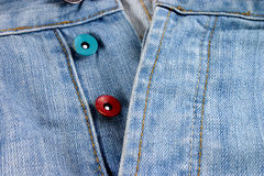 Blue jeans texture. Ideal for background royalty free stock photography