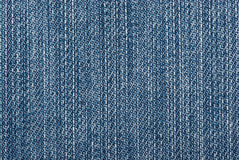 Blue jeans texture. Close-up photo Royalty Free Stock Images