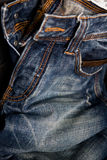 Blue jeans texture background Royalty Free Stock Images