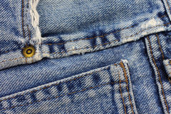Blue jeans texture. Royalty Free Stock Photo