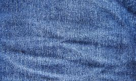 Blue jeans texture for background. The blue jeans fabric for bac. Kdrop. jean is a hard-wearing trousers made of denim or other cotton fabric, for informal wear Stock Image