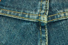 Blue jeans texture, background Royalty Free Stock Photo
