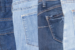 Blue jeans texture background, Old Jeans fashion design Royalty Free Stock Photography