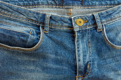 Blue Jeans texture and background. With stitch details Stock Photography