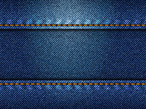 Blue jeans texture, illustration Royalty Free Stock Image