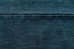 Blue jeans texture seam Stock Image