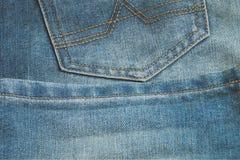 Blue jeans texture and seam stitch design Stock Photos