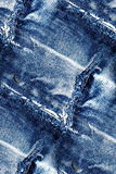 Blue jeans texture - seamless grunge background Stock Photo