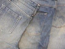 Blue jeans tre pantaloni fotografia stock libera da diritti
