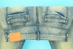 Blue jeans trouser Royalty Free Stock Image