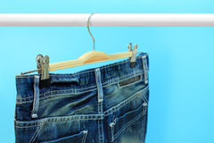 Blue jeans trouser Royalty Free Stock Images