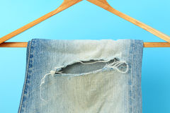 Blue jeans trouser Stock Image