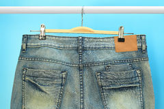 Blue jeans trouser Royalty Free Stock Photography