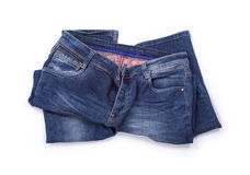 Blue jeans trouser Stock Images
