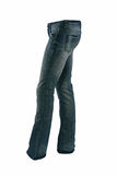 Blue jeans trousers Stock Photos