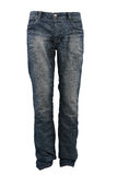 Blue jeans trousers. Isolated on white Royalty Free Stock Images