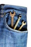Blue Jeans und Hilfsmittel Lizenzfreie Stockfotografie