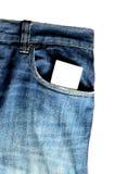 Blue Jeans und Karte Stockbild