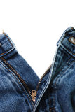 Blue Jeans Unzipped Isolated Stock Photo