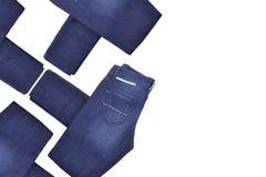 Blue Jeans verbogen Stockbilder