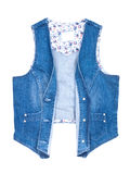 Blue jeans vest isolated Royalty Free Stock Image