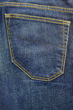 Blue jeans vintage pocket trousers background Royalty Free Stock Photos